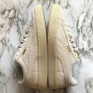 PUMA Suede Epic Remix Dove Grey and Gold